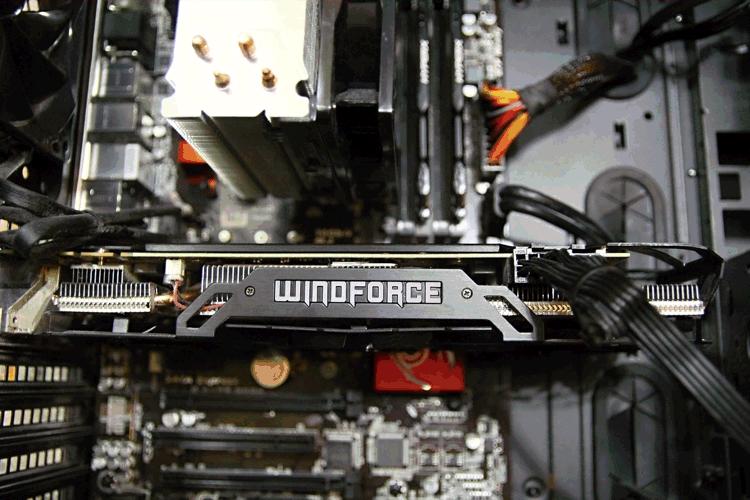 Vue intérieure d'un PC gamer